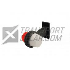 Positionslampa Rak 165mm Vit / Röd