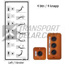 Dekal Manöverdon 4-knappar - Vänster