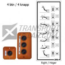 Dekal Manöverdon 4-knappar - Höger