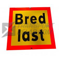 Bredlast skylt 640x620x2, vikbar, ej fjäderbelastad