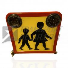 Skolskjutsskylt LED Fällbar